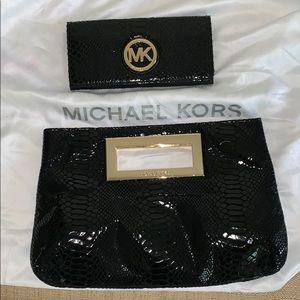 MK clutch w/ matching wallet